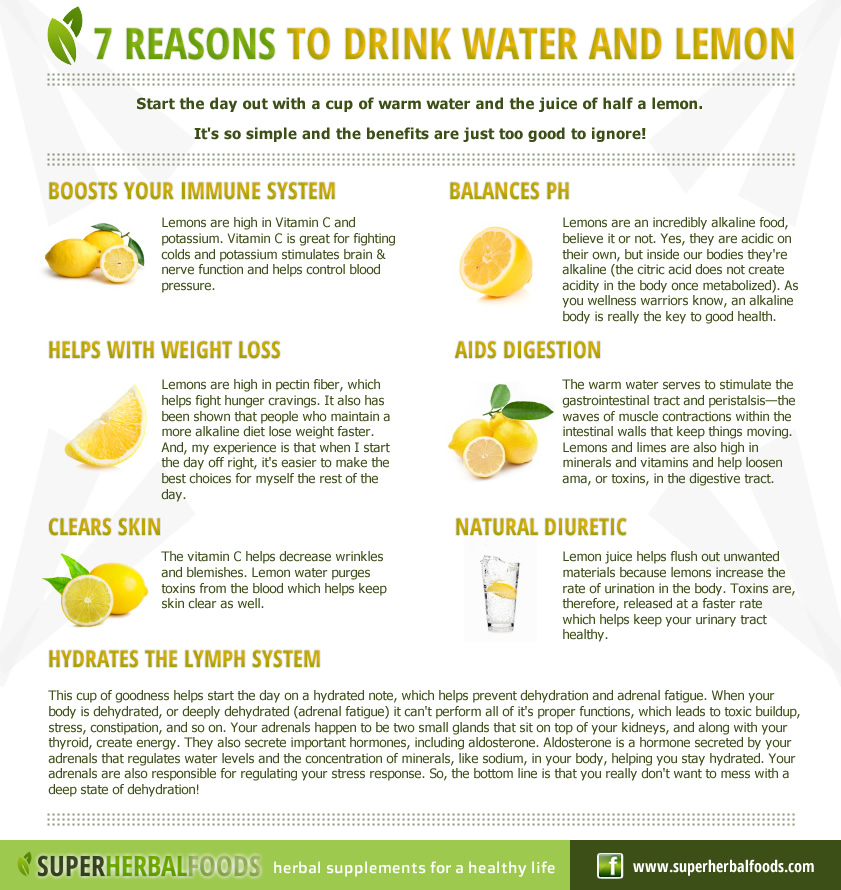 Super herbal foods natural remedies seven reasons to drink water and lemon - Seven reasons to make the bed every morning ...